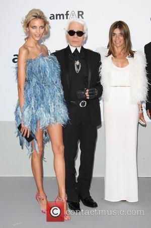 Karl Lagerfeld and Carine Roitfeld