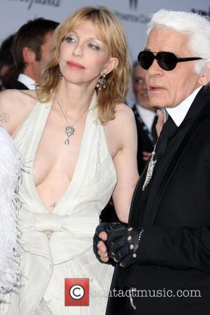 Karl Lagerfeld and Courtney Love 2011 Cannes International Film Festival - Day 9 - amfAR's Cinema Against AIDS Gala -...