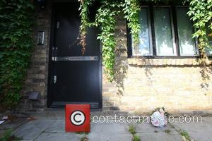Flowers outside Amy Winehouse's old flat in...