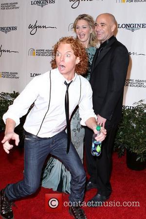 Carrot Top, Andre Agassi and Stefanie Graf Andre Agassi Grand Slam For Children at Wynn Resort and Casino  Las...