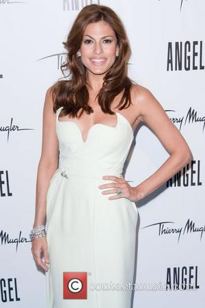 Eva Mendes  Eva Mendes reveals her new campaign for Angel by Thierry Mugler - Arrivals New York City, USA...