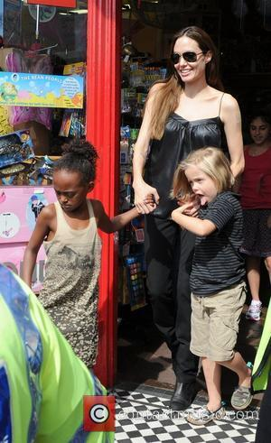 Angelina Jolie and Shiloh