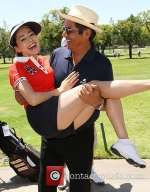Aimee Garcia, George Lopez The 4th Annual Lopez Foundation Celebrity Golf Classic held at Riviera Country Club - Inside Pacific...