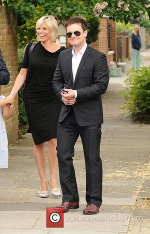 Declan Donnelly Ant McPartlin and wife Lisa host a royal wedding garden party and barbecue at their home London, England...