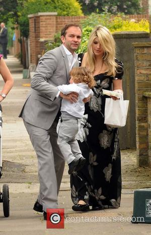 Holly Willoughby with her husband Dan and son Harry Ant McPartlin and wife Lisa host a royal wedding garden party...