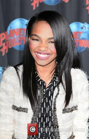 Disney star China Anne McClain attends a promotional event for the new series 'Ant Farm' held at Planet Hollywood in...