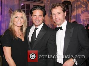 Tina Hobley, Oliver Wheeler and Hugh Gibson Art and Food Gala Dinner at the Savoy Hotel London, England - 07.11.11