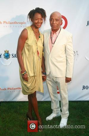 Kara Walker and Russell Simmons  Russell Simmons' 12th Annual Art For Life East Hampton Benefit  New York City,...