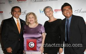 Antonio Villaraigosa, George Lopez, Jamie Lee Curtis and Wallis Annenberg