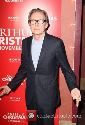 Bill Nighy  Arthur Christmas MTA Shuttle unveiling at Grand Central Shuttle Station 42nd Street New York City, USA -...