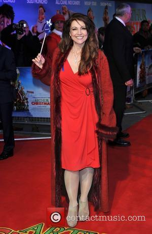 Emma Samms 'Arthur Christmas' UK premiere held at the Empire Leicester Square - Arrivals. London, England - 06.11.11