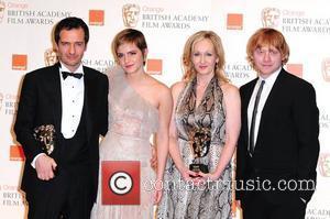 David Hayman, Emma Watson, Jk Rowling and Rupert Grint