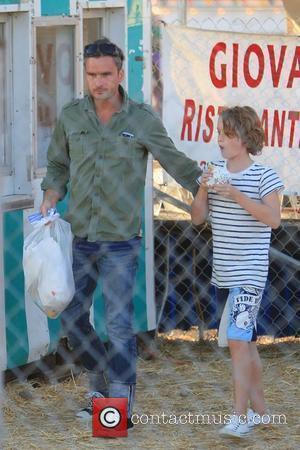 Balthazar Getty takes his children to The Chilli Cook Off Festival at Cross Creek, Malibu Malibu, California - 03.09.11