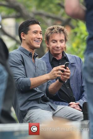 Mario Lopez and Barry Manilow
