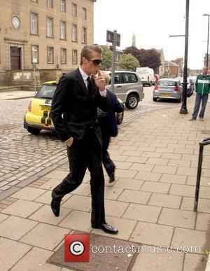Jonas Erik Altberg aka Basshunter arrives at Kirkcaldy Sheriff Court to face sexual assault charges Kirkcaldy, Scotland - 18.05.11