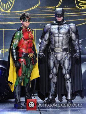 Batman (Nick Court) and Robin (Karel Simons) The launch of Batman Live at The O2 Dublin, Ireland - 28.09.11