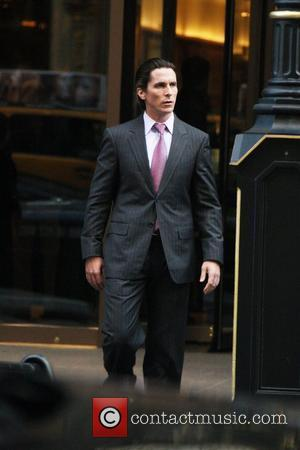 Christian Bale on the latest Batman film set 'The Dark Knight Rises' New York City, USA - 28.10.11