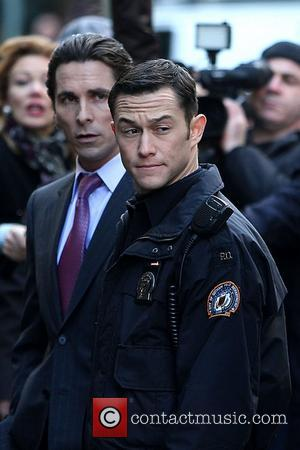 Christian Bale, Joseph Gordon-Levitt on the latest Batman film set 'The Dark Knight Rises' New York City, USA - 28.10.11