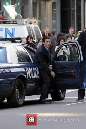 Christian Bale  on the set of the latest Batman film, 'The Dark Knight Rises' New York City, USA -...