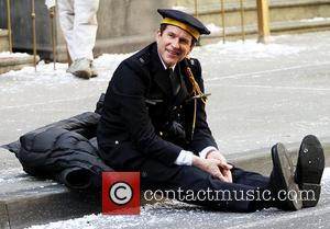 Matthew Modine,  on the Batman movie set of 'The Dark Knight Rises' New York City, USA - 06.11.11