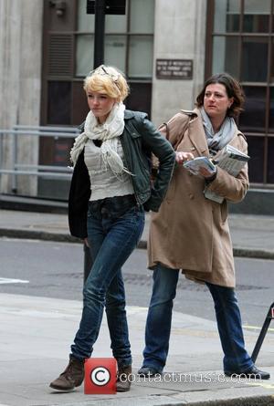 Dakota Blue Richards and her mother Mickey Richards outside the BBC Radio One studios London, England - 05.02.11