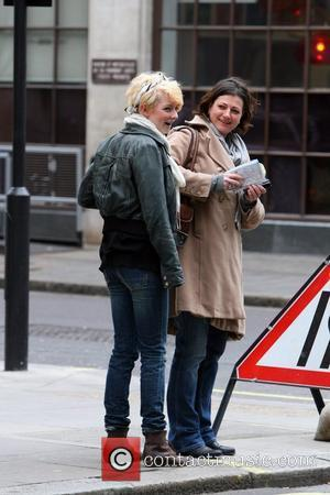 Dakota Blue Richards and her mother Mickey Richards outside the BBC Radio One studios London, England - 05.02.11