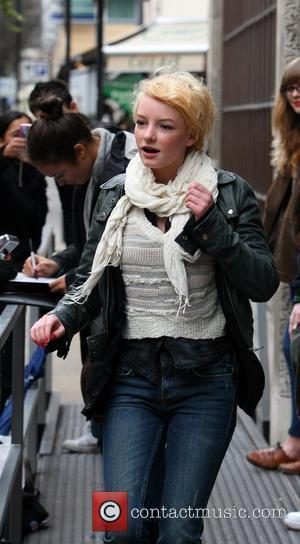 Dakota Blue Richards  outside the BBC Radio One studios London, England - 05.02.11