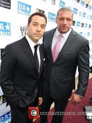 Jeremy Piven and Paul Levesque