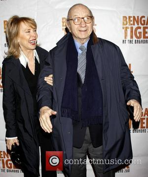 Elaine Joyce-Simon and Neil Simon Opening night of the Broadway production of 'Bengal Tiger at the Baghdad Zoo' at the...