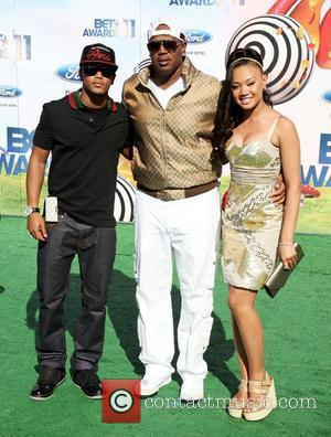Rapper Romeo, rapper Master P, and actress/singer Cymphonique Miller BET Awards '11 held at the Shrine Auditorium Los Angeles, California...