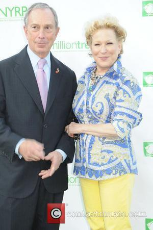 Mayor Michael Bloomberg and Bette Midler