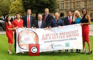 Lee Latchford Evans, Alex Reid, John Thomson, Kerry Lucy Taylor, Sasha Parker and Korin Nolan Better Breakfast Campaign Photocall held...