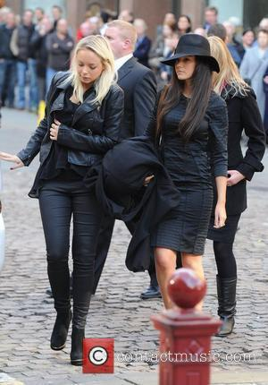 Michelle Keegan  The funeral of Betty Driver held at St Ann's Church Manchester, England - 22.10.11