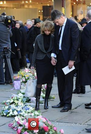 Helen Worth and Michael Angelis The funeral of Betty Driver held at St Ann's Church Manchester, England - 22.10.11