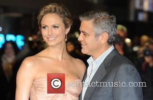 Stacy Keibler, George Clooney, The Descendants and Odeon Leicester Square