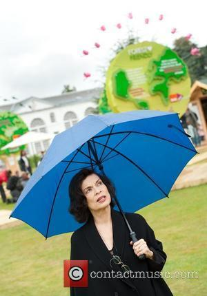 Bianca Jagger in the B&Q Forest Friendly exhibition at Kew Gardens for START@Kew, which encourages the public to take simple...