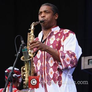 Femi Kuti & the Positive Force performing on the Deer Park Stage of The Big Chill Festival at Eastnor Castle...