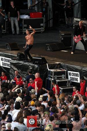 Iggy Pop performing live in concert as part of the annual 'Big Day Out' music festival Sydney, Australia - 26.01.11