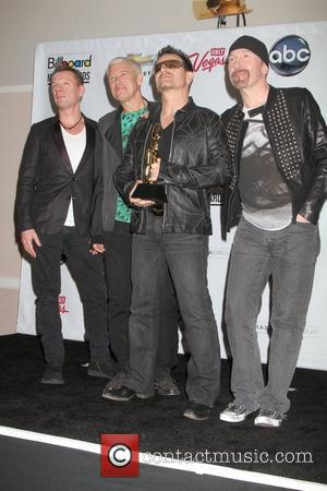 U2 (Larry Mullen Jr, Adam Clayton, Bono and The Edge) at the 2011 Billboard Music Awards at MGM Grand Garden...