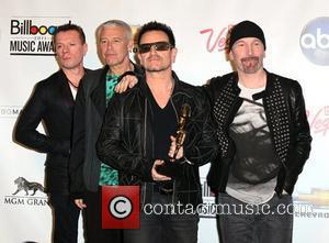 Adam Clayton, Larry Mullen, Bono, The Edge of U2 The 2011 Billboard Music Awards at MGM Grand Garden Arena -...
