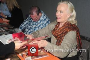 Shirley Eaton Celebrities sign autographs at the Memorabilia Show at the NEC Arena Birmingham, England - 26.03.11