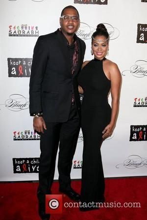 Carmelo Anthony and La La Anthony 8th Annual Keep A Child Alive Black Ball, held at the Hammerstein Ballroom -...