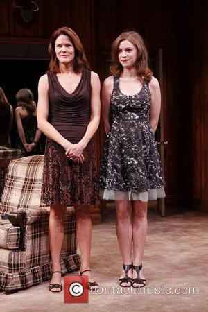 Carolyn McCormick and Elvy Yost Opening night of the Off-Broadway production of 'Black Tie' held at 59E59 Theaters - Curtain...