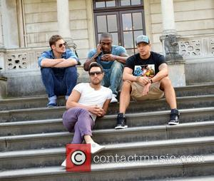 Lee Ryan, Simon Webbe, Duncan James, and Antony Costa of Blue launch their Eurovison challenge at The Radisson Hotel...