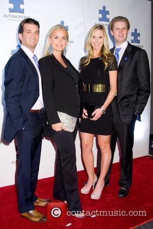 Donald Trump Jr., Vanessa Trump and Eric Trump A Blue Affair charity reception at the Trump Soho Hotel - Arrivals...
