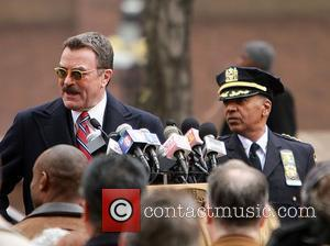Tom Selleck  filming on the set of the television show 'Blue Bloods'  New York City, USA - 18.02.11
