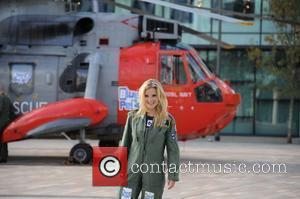 Blue Peter presenter Helen Skelton joins the Royal Navy Search rescue from Cornwall. The Royal Navy Helicopter Landed at The...
