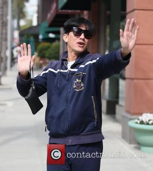 Bobby Trendy  running errands with a friend in Beverly Hills Los Angeles, California, USA - 01.03.11