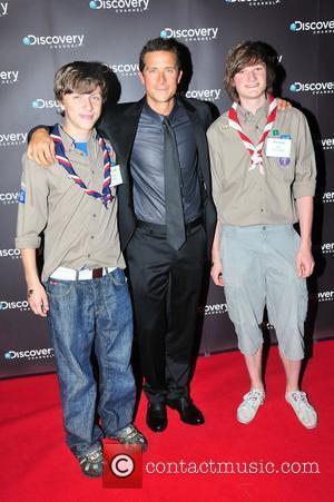 Bear Grylls with Scouts 'Born Survivor' private screening at The MayFair hotel  London, England - 21.06.11