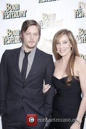 Norman Reedus and Cindy Cowell  Opening night of the Broadway production of 'Born Yesterday' at the Cort Theatre -...